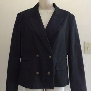 Isaac Mizrahi Black Pinstripe Suit Blazer